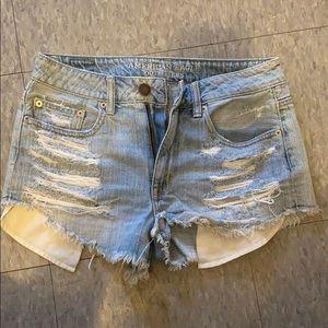 Hi-rise jean shorts